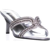 Caparros Cynthia Rhinestone Heeled Slide Sandals, Silver Metallic - 7.5 us