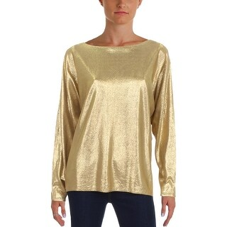 Lauren Ralph Lauren Womens Sweater Metallic Sparkly