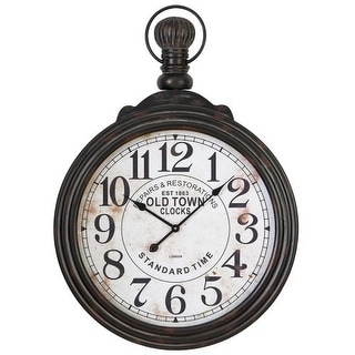 "Aspire Home Accents 52107 39"" Pocket Watch Style Large Wall Clock"
