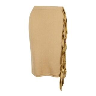 Lauren Ralph Lauren Women's Suede Fringe Skirt