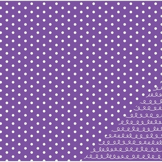"""American Crafts Basics Double-Sided Cardstock 12""""X12""""-Purple Dot"""