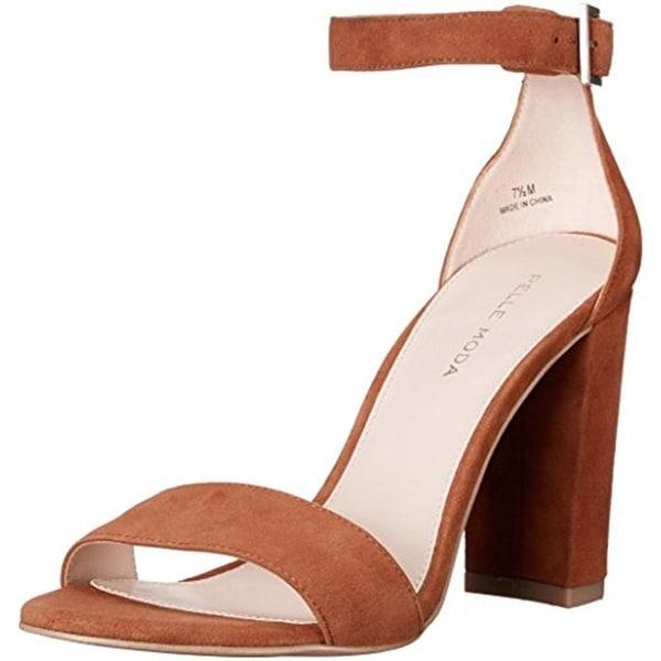 Pelle Moda Womens Bonnie Dress Sandals Suede Ankle Strap