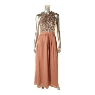 Aqua Womens Georgette Prom Semi-Formal Dress