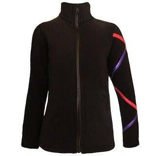 Ice Fire Skate Wear Black Jacket Purple Criss Cross Girl 4-Women L