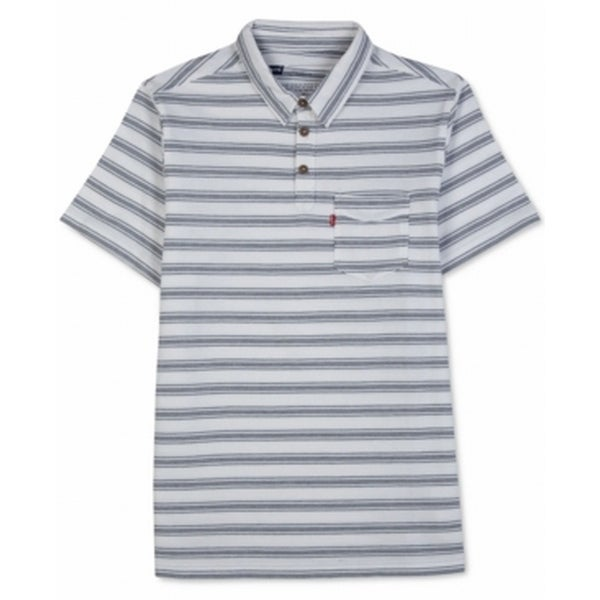 ffcc8d49ff Shop Levi's NEW White Blue Mens Size XL Striped Chest Pocket Polo Shirt -  Free Shipping On Orders Over $45 - Overstock - 18603863