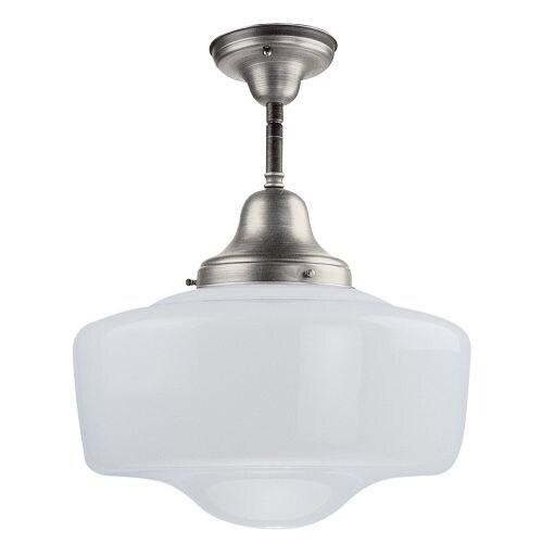 """DVI Lighting DVP7511 Schoolhouse 18"""" Tall Single Light Energy Star Semi-Flush Ceiling Fixture"""