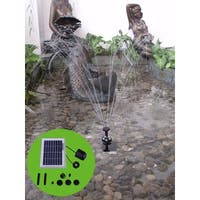 Sunnydaze Solar Pump and Panel Kit with Battery Pack and Light - 65 GPH