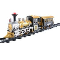 8-Piece Fast Forward Battery Operated Lighted & Animated Classic Train Set with Sound