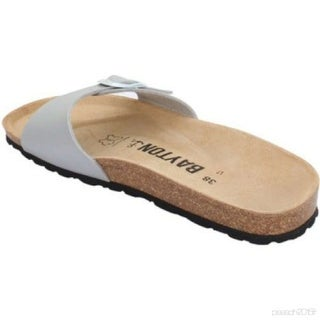 Link to Bayton Womens Zephyr Open Toe Casual Slide Sandals Similar Items in Women's Shoes