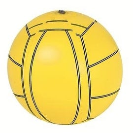 "16"" Yellow and Black 6-Panel Inflatable Beach Volleyball Swimming Pool Toy"