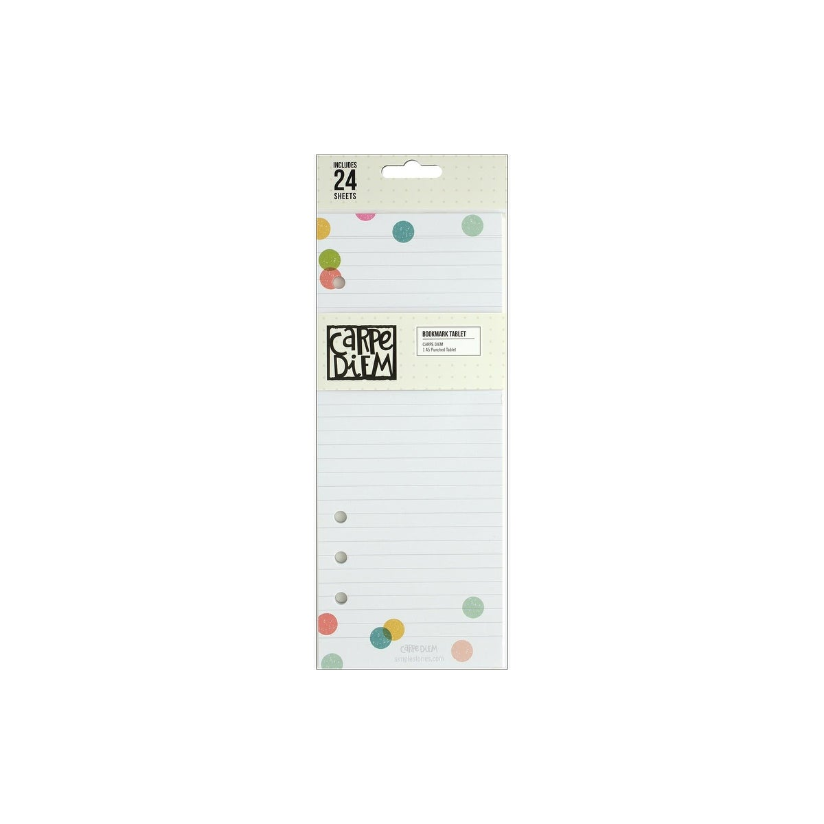 Simple Stories Carpe Diem The Reset Girl Collection Bookmark Tablet