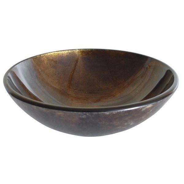 Eden Bath Brown Reflections Glass Vessel Sink