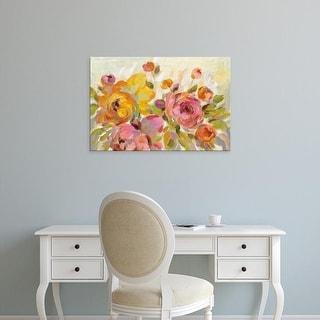 Easy Art Prints Silvia Vassileva's 'Brushy Peonies' Premium Canvas Art