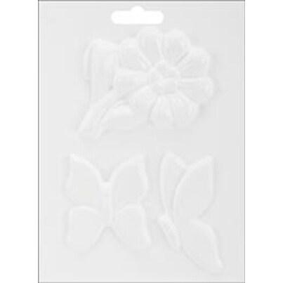 "Butterfly & Flower - Plaster Casting Mold 5""X7"""