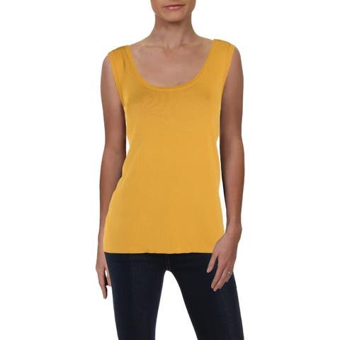Anne Klein Womens Tank Top Sweater Scoop Neck Business - M