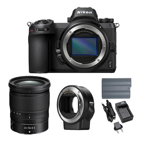 Nikon Z6 Mirrorless Camera with 24-70mm Lens and FTZ Mount Adapter Bundle