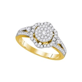 5/8Ctw Diamond Fashion Bridal Engagement Ring 14K Yellow-Gold