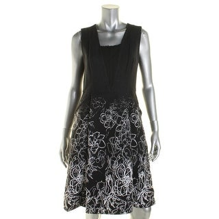 Elie Tahari Womens Printed Textured Wear to Work Dress - 6