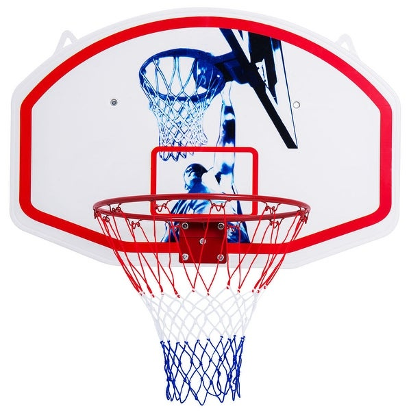 9011058758a Shop Gymax 35   x 24   Wall Mounted Mini Basketball Hoop Backboard ...