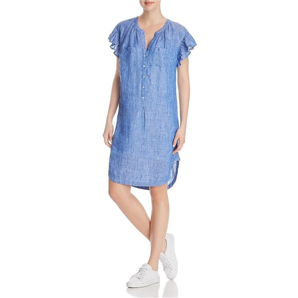 Joie Womens Fermina Shirt Dress blue X-Small
