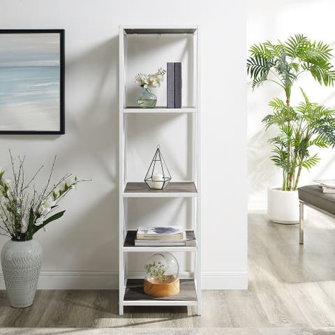 Carbon Loft Hattie X-frame Tower Bookshelf