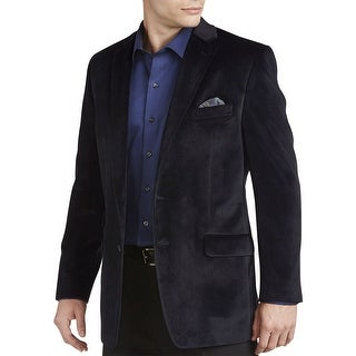 Ralph Lauren RL Navy Blue Velvet Two-Button Sportcoat Blazer 36 Short 36S