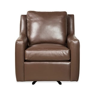 Link to Salmoni Genuine Leather Swivel Chair Similar Items in Living Room Chairs
