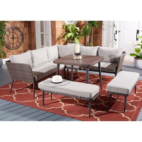 SAFAVIEH Outdoor Living Warten 6-Piece Patio Sofa Set