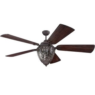 "Craftmade Olivier Olivier 54"" - 70"" 5 Blade Indoor / Outdoor Ceiling Fan - Remote and Light Kit Included - Requires Blade"