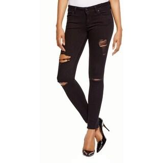 DL1961 Womens Emma Skinny Jeans Denim Destroyed
