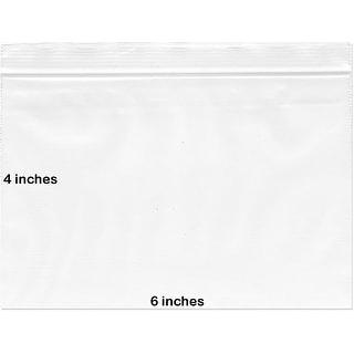 "BNY Corner 2 Mil 6x4 Clear Plastic Zip Lock Bags, 6"" x 4"" - 1000 Counts - 1000 count"