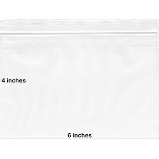 "BNY Corner 2 Mil 6x4 Clear Plastic Zip Lock Bags, 6"" x 4"" - 500 Counts - 500 count"