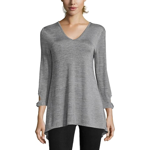 John Paul Richard Womens Tunic Top Open Back Cut-Out - M