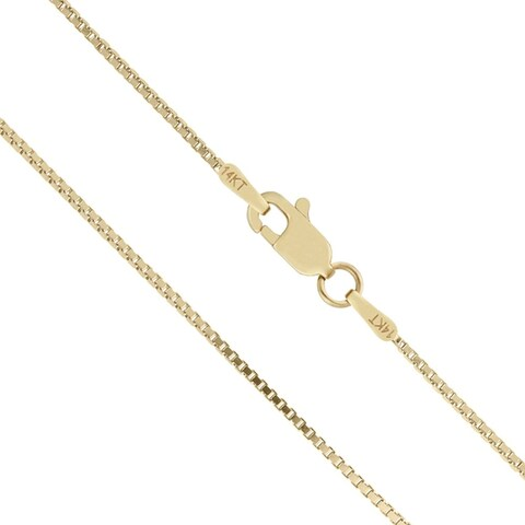 Mcs Jewelry Inc 14 KARAT YELLOW GOLD SOLID BOX CHAIN (1mm)