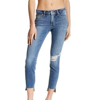 Joe's NEW Blue Women's Size 26X29 Raw-Hem Ankle Skinny Stretch Jeans