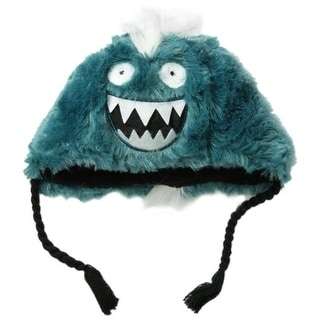 Hatley Boys Ice Monster Applique Fuzzy Fleece Beanie Hat