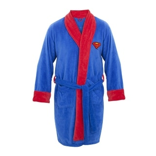 DC Comics Superman Mens Fleece Bath Robe