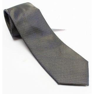 Forsythe NEW Gold Textured Solid Men's Woven Silk Classic Necktie