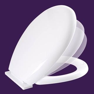 Toilet Seat Slow EZ Close No Slam Plastic Round White