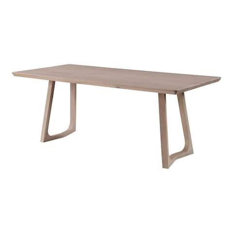 Aurelle Home Seleana Modern Solid White Oak Rectangular Dining Table