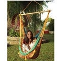 Sunnydaze Mayan Hammock Chair with Wood Spreader Bar - Thumbnail 7