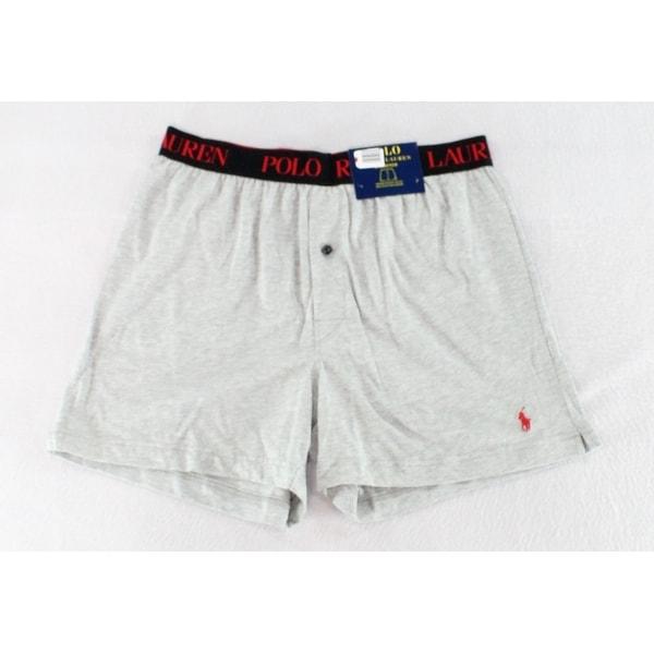 c784e864 Polo Ralph Lauren Heather Mens Solid Knit Boxer Underwear