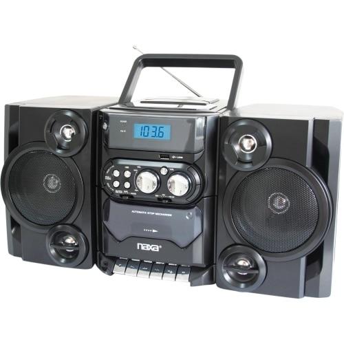 """Naxa NPB-428 Naxa NPB-428 Mini Hi-Fi System - 5 W RMS - Black - CD Player, Cassette Recorder - 1 Cassette(s) - FM, AM - 2"