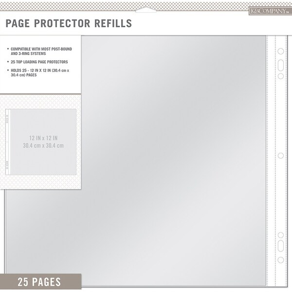 "K&Company Page Protector Refills 12""X12"" 25/Pkg"