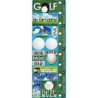 "Golf - Signature Series Cardstock Combo Sticker 4.25""X12"""