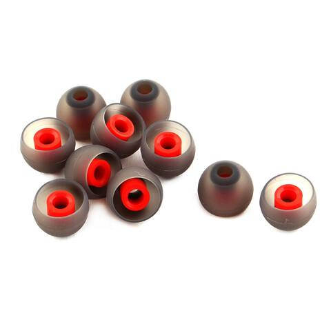 Smartphone Silicone Headset Headphone Buds Ear Tip Cover Black Red 10 PCS # 3