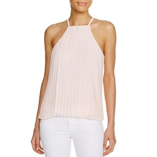 Likely Womens Chester Halter Top Chiffon Pleated