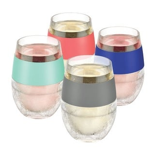 Wine Freeze Cooling Cups - Set of 4 Freezable Wine Glasses