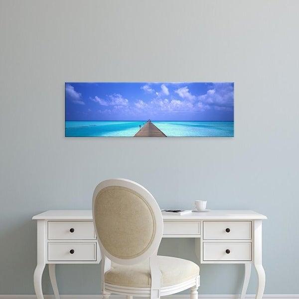 Easy Art Prints Panoramic Images's 'Holiday Island Maldives' Premium Canvas Art