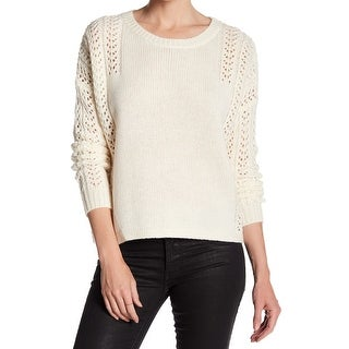 360 Cashmere Ivory Womens Large Knitted Pullover Sweater